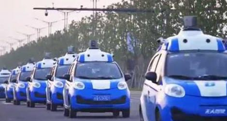 Chinas first driverless cars go for trial run in Wuzhen